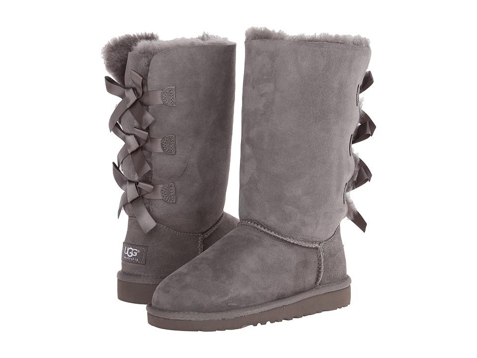 UGG Kids Bailey Bow Tall Little Kid/Big Kid Grey Girls Shoes