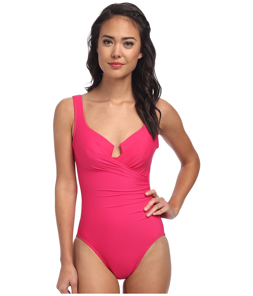 Miraclesuit Must Haves Escape Swimsuit (Watermelon) Women's Swimsuits One Piece<br />