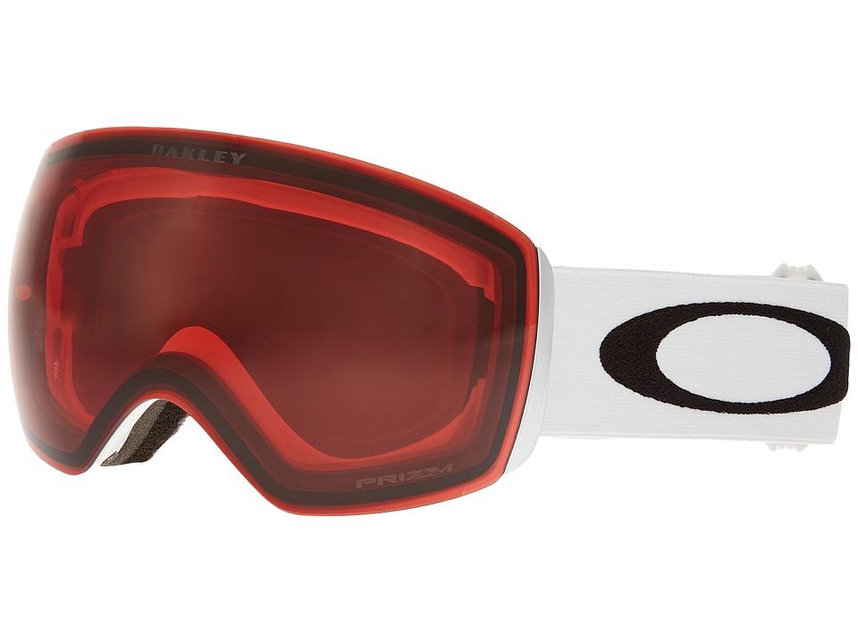 Oakley Flight Deck (Matte White/Prizm Rose) Snow Goggles