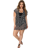 BECCA by Rebecca Virtue - Plus Size African Beat Tunic Cover-Up