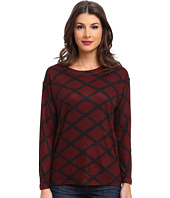 Nally & Millie - Plaid Multi Ribbed Sweater Top