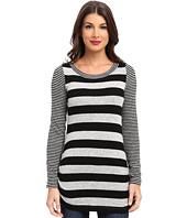 Nally & Millie - Striped Brush Sweater Long Sleeve Top