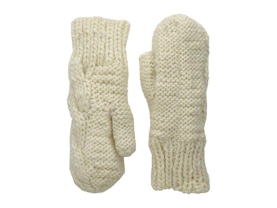 BULA Aran Mitten (White) Over-Mits Gloves