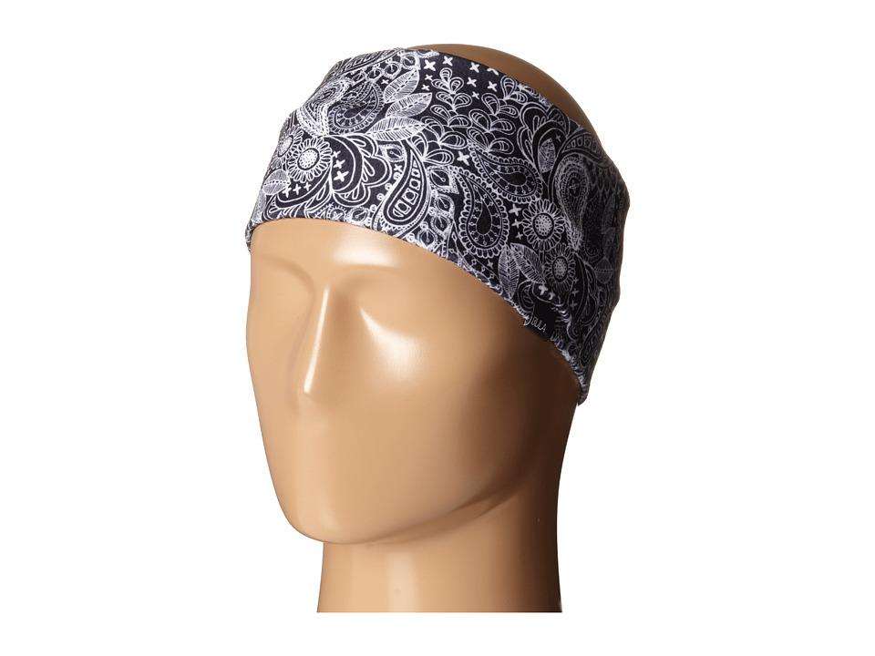BULA Peace Printed Black Paisley Knit Hats