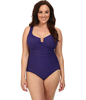 Miraclesuit - Plus Size Solid Escape Swimsuit