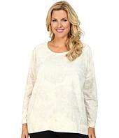 DKNY Jeans - Plus Size Lace Print Rhinestud Sweatshirt
