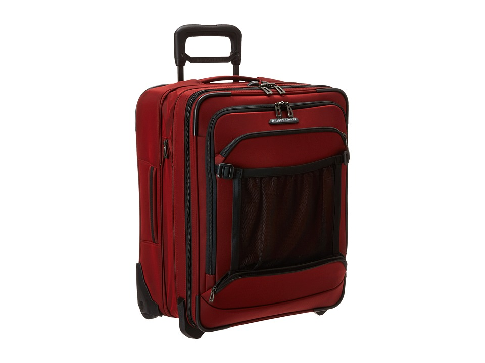 Briggs amp Riley Transcend International Carry On Expandable Wide Body Upright Crimson Red Carry on Luggage