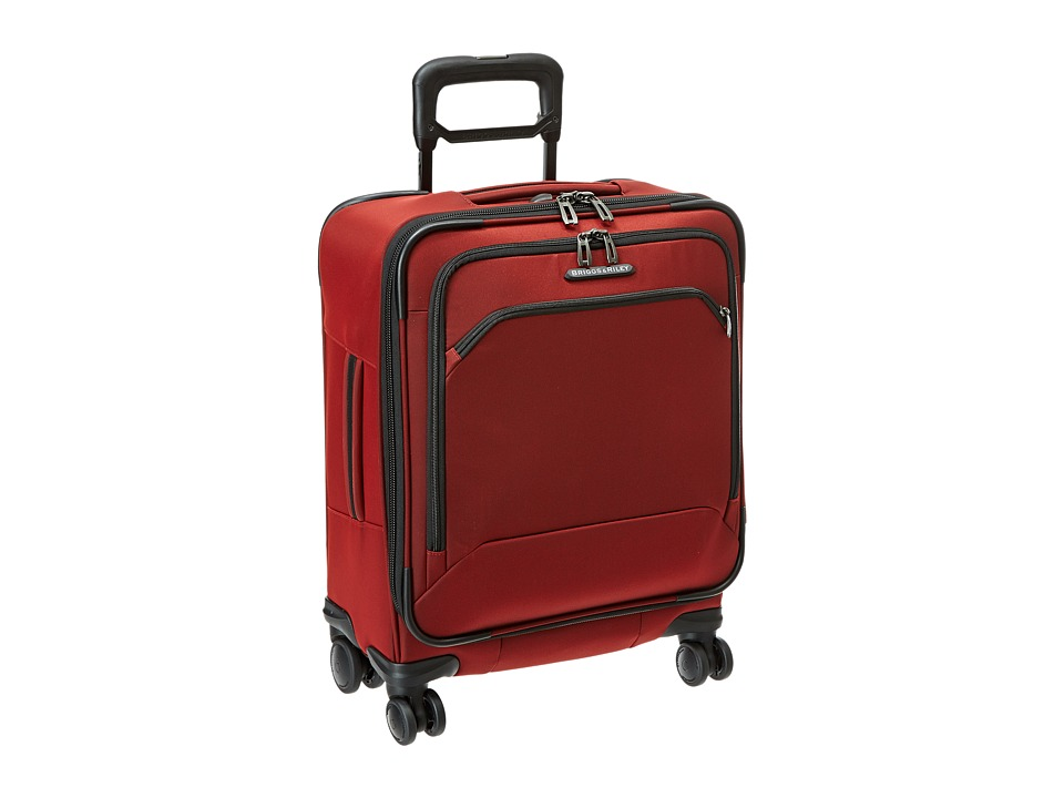 Briggs & Riley - Transcend International Carry-On Wide-Body Spinner (Crimson Red) Carry on Luggage
