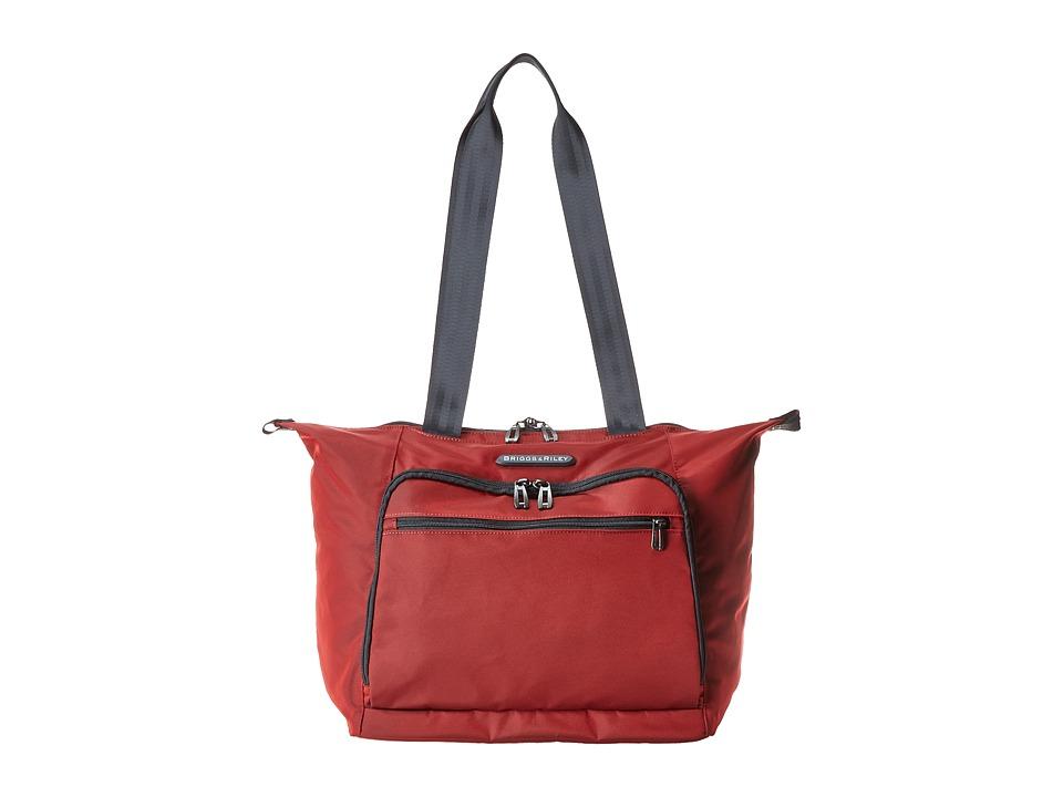 Briggs amp Riley Transcend Shopping Tote Crimson Red Tote Handbags