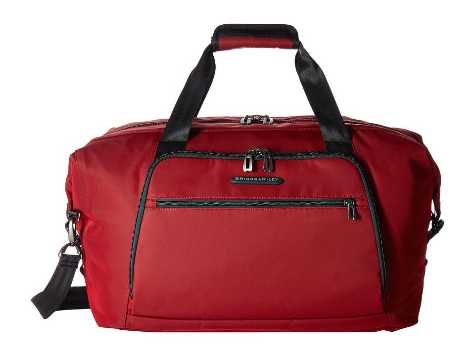 Briggs amp Riley Transcend Weekender Crimson Red Weekender/Overnight Luggage