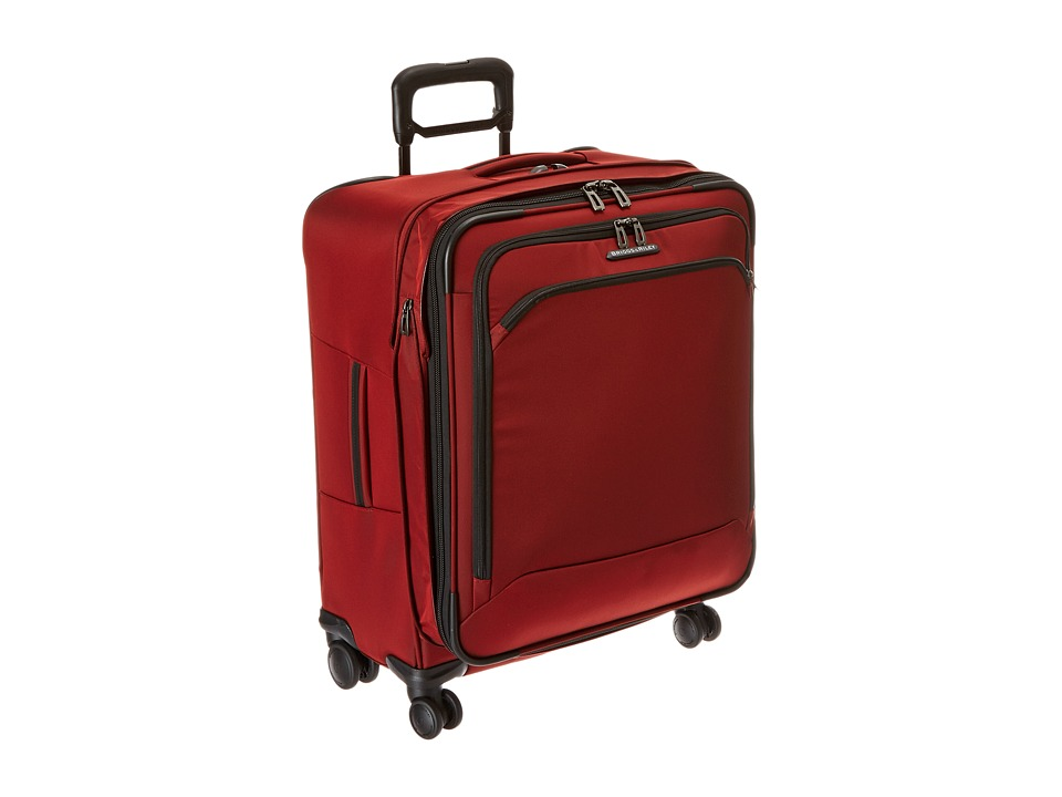 Briggs amp Riley Transcend Medium Expandable Spinner Crimson Red Luggage