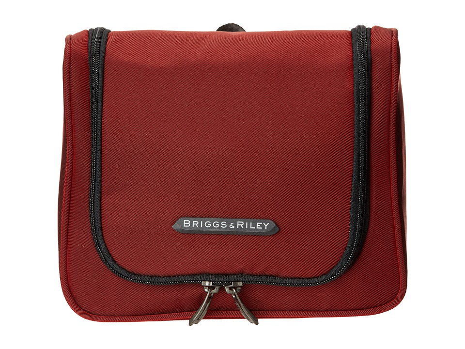 Briggs amp Riley Transcend Hanging Toiletry Kit Crimson Red Luggage