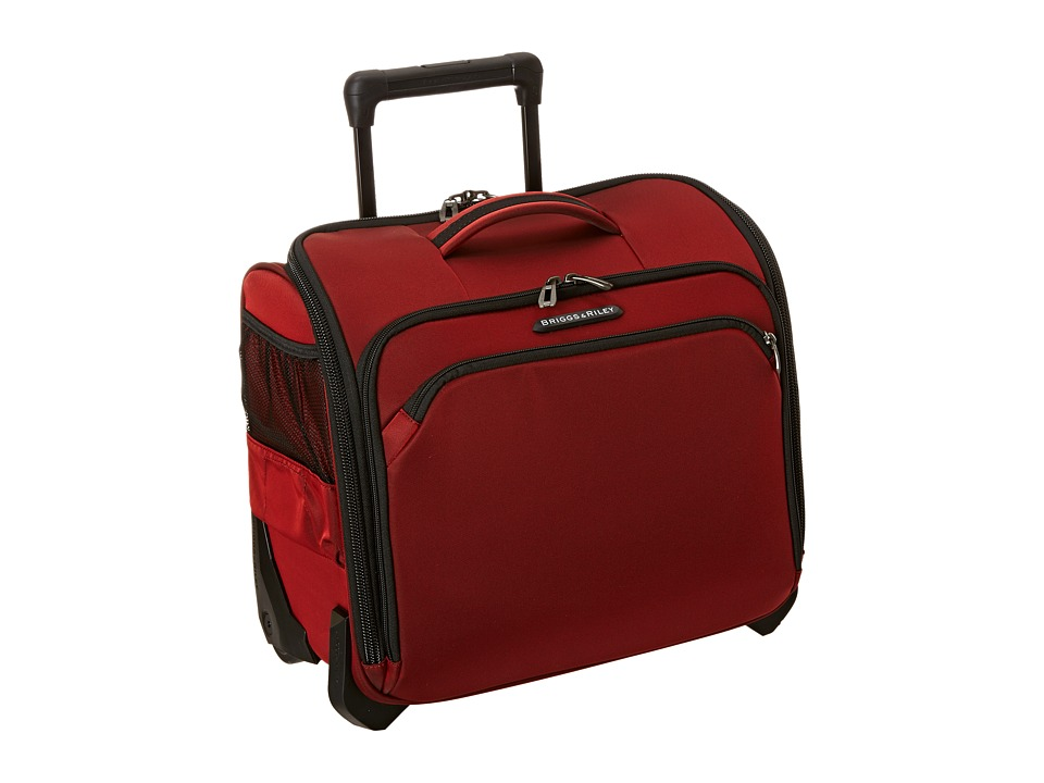 Briggs amp Riley Transcend Rolling Cabin Bag Crimson Red Carry on Luggage