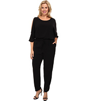 DKNYC - Plus Size Cold Shoulder Jumpsuit