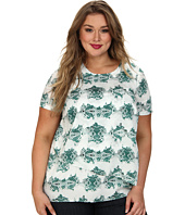 DKNYC - Plus Size S/S Tiered Blouse