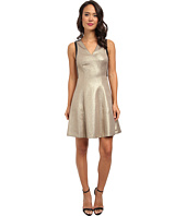 DKNYC - Ponte Pieced Flare Dress