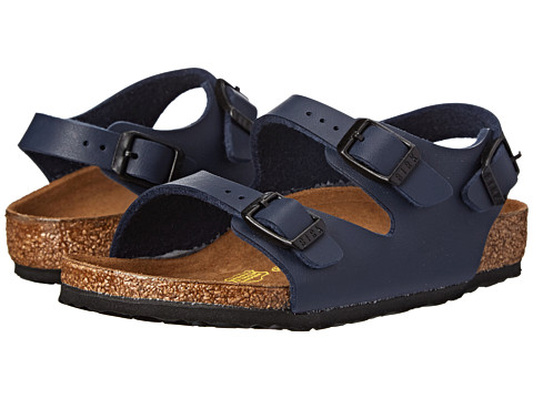 Birkenstock Kids Roma (Toddler/Little Kid/Big Kid) - Blue Birko-Flor!