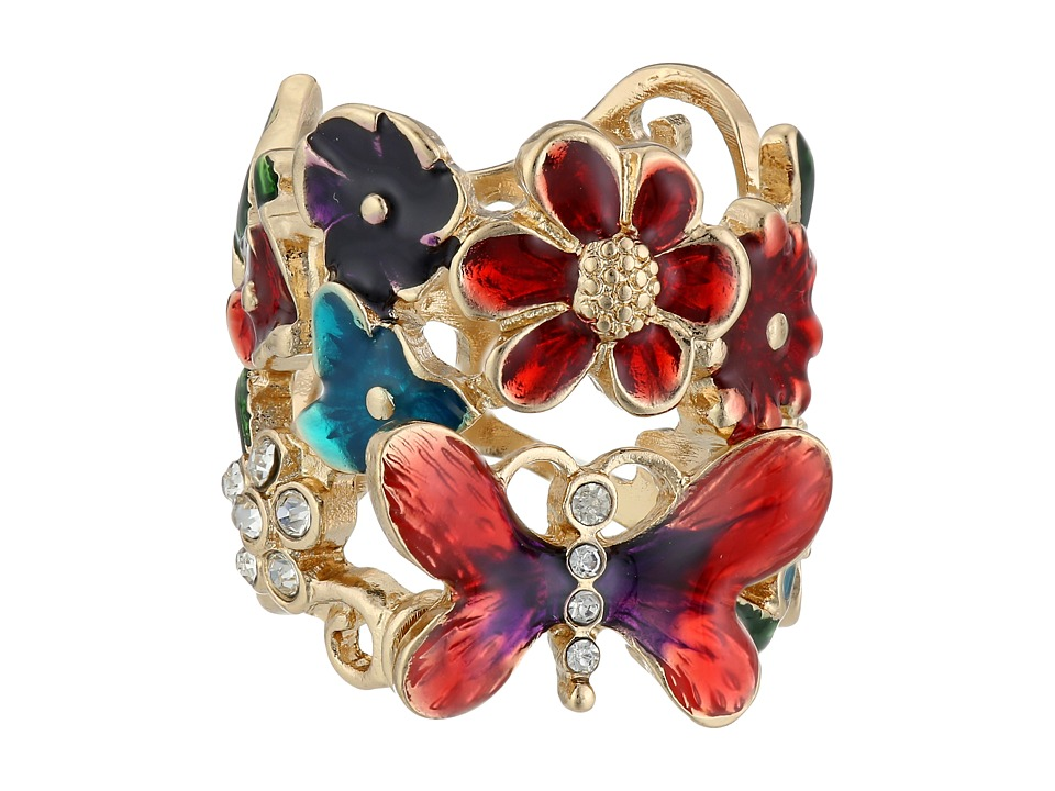GUESS - Butterfly Flower Ring (Multi) Ring