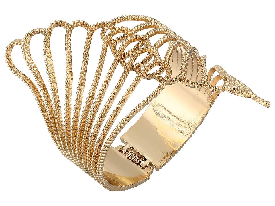 GUESS - Fan Hinge Cuff (Gold) Bracelet