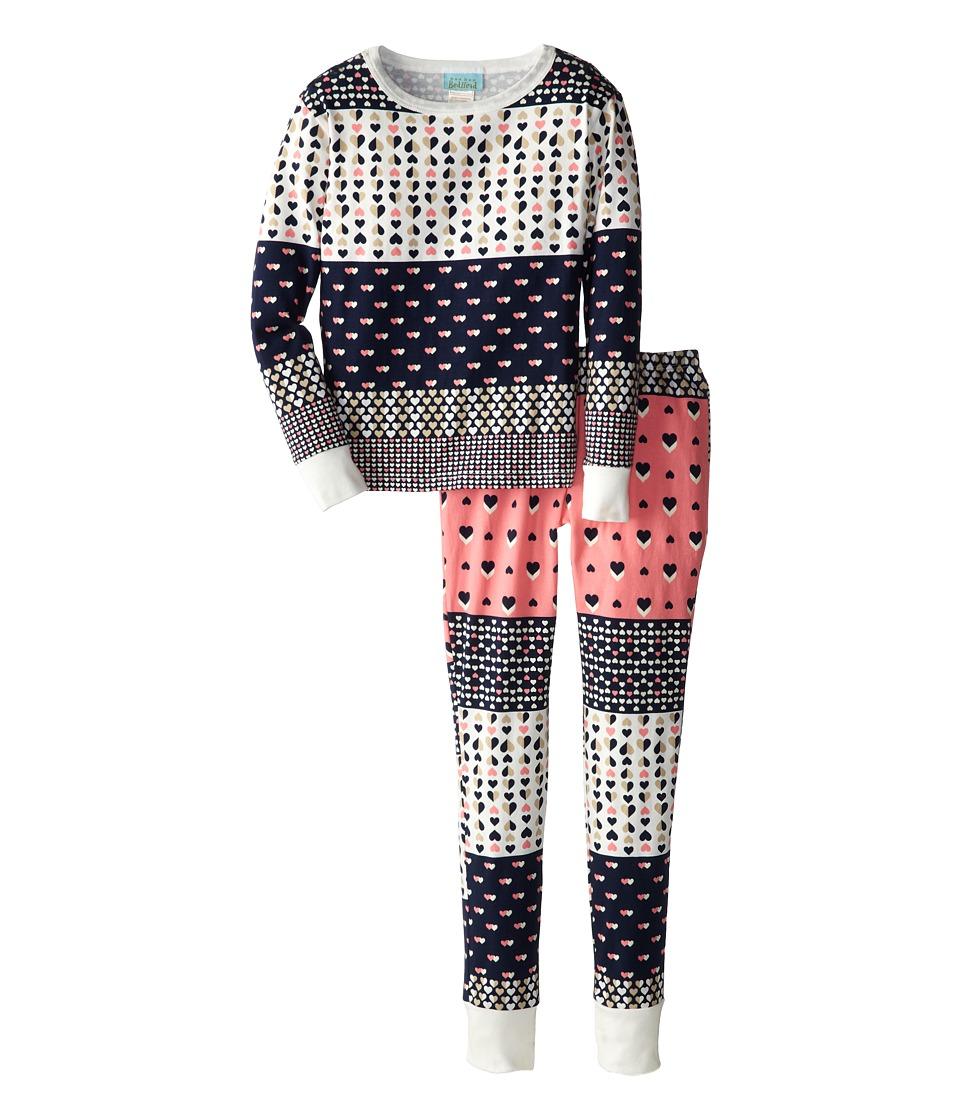 BedHead Kids Snug Fit L/S Classic PJ (Big Kids) (Pink Hearts Galore) Girl's Pajama Sets
