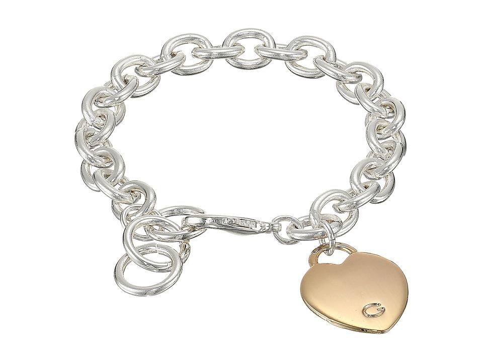 GUESS - Heart Bracelet (Silver/Rose Gold) Bracelet