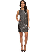 DKNYC - Textured Sequins w/ Ponte Back Dress