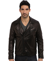 Andrew Marc x Richard Chai - Brayden Italian Luxe Lamb Asymmetrical Moto Jacket