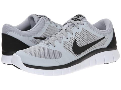Nike Kids Flex 2015 Run (Big Kid) - Wolf Grey/White/Black