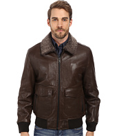 Andrew Marc x Richard Chai - Felix French Rugged Lamb Aviator Jacket w/ Shearling Collar