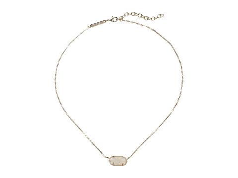 Kendra Scott Elisa Pendant Necklace - Gold/Iridescent Drusy