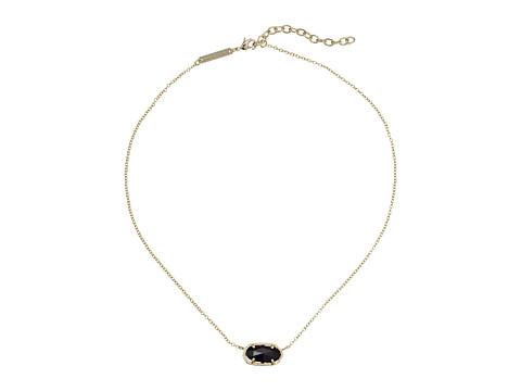 Kendra Scott Elisa Pendant Necklace - Gold/Black Opaque Glass