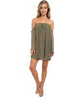 Tbags Los Angeles - Crochet Lace Off Shoulder Cutout L/S Dress