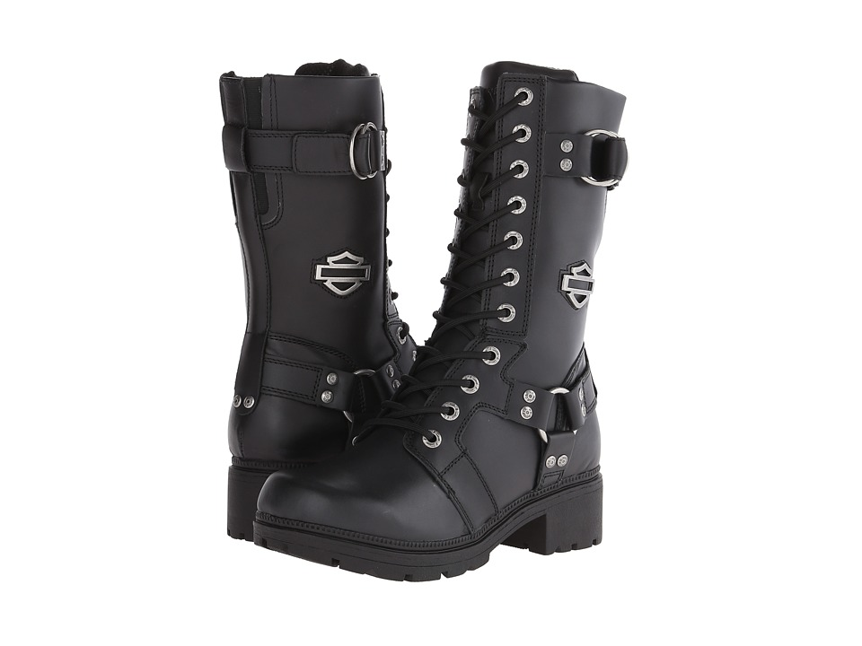 Harley-Davidson Eda (Black) Women's Lace-up Boots