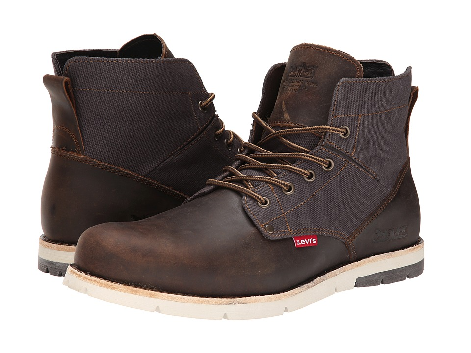 Levis(r) Shoes - Jax (Brown/Charcoal) Mens Lace-up Boots