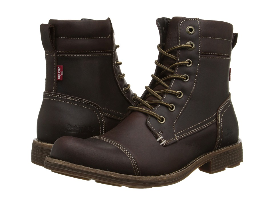 Levis(r) Shoes - Lex II (Dark Brown) Mens Lace-up Boots