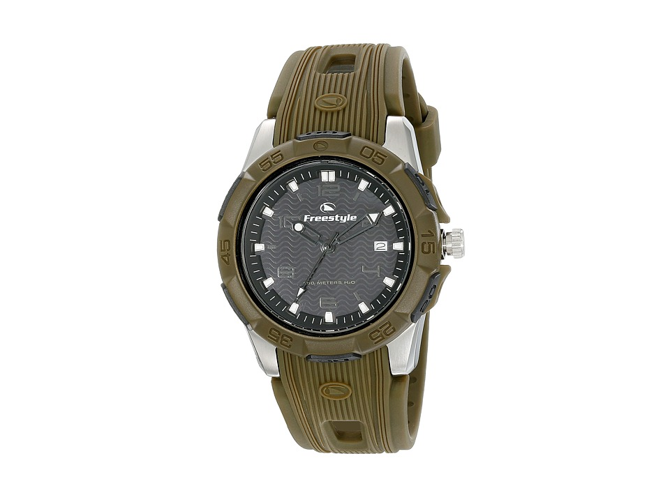 Freestyle Kampus Black/Green Watches