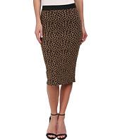 Brigitte Bailey - Leopard Print Textured Midi Skirt