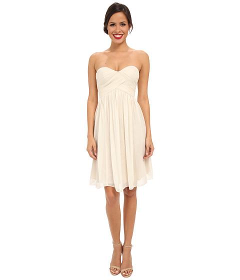 Donna Morgan Morgan Short Silk Chiffon Strapless Dress - 6pm.com