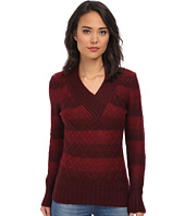 Gabriella Rocha - V-Neck Striped Sweater