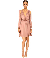 Versace Collection - L/S Pleated Surplice Dress