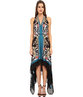 Versace Collection - Printed Halter Asymetrical Hem Gown