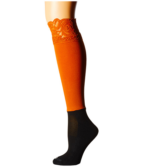 BOOTIGHTS Lacie Lace Darby Knee High/Ankle Sock - Burnt Orange