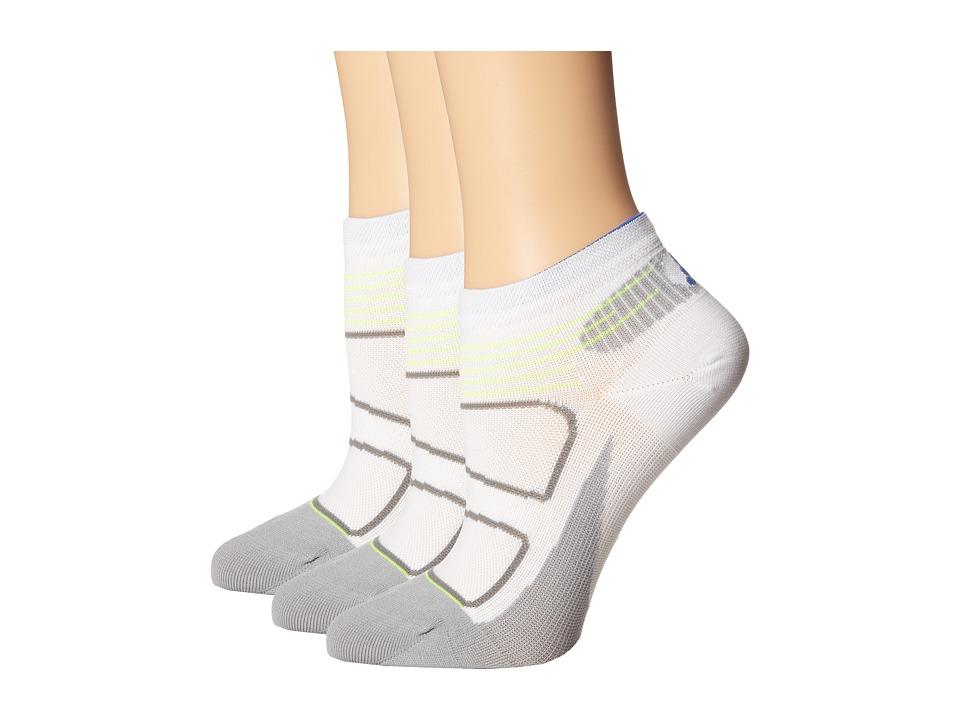 Feetures Elite Ultra Light Low Cut 3pk White/Olympian Blue Low Cut Socks Shoes