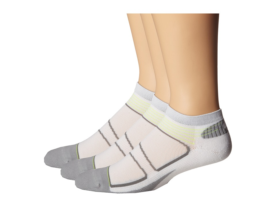 Feetures Elite Light Cushion Low Cut 3 Pair Pack White/Black Low Cut Socks Shoes