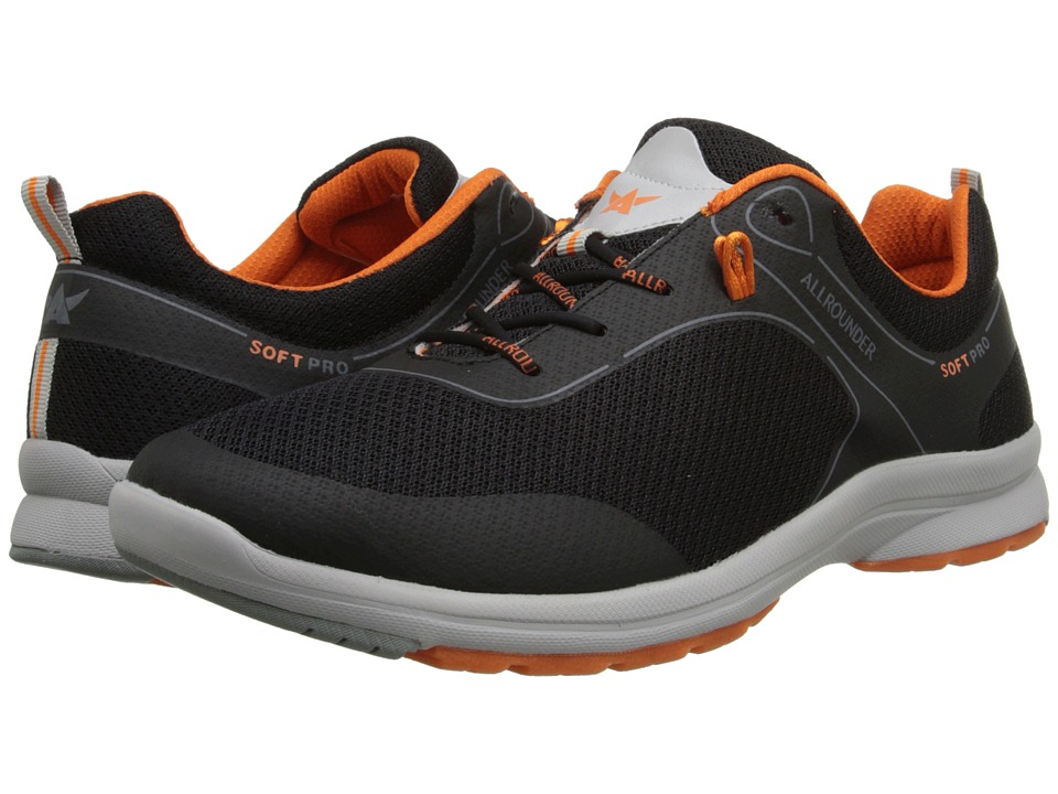 Allrounder by Mephisto Celano Black Air Mesh Mens Shoes
