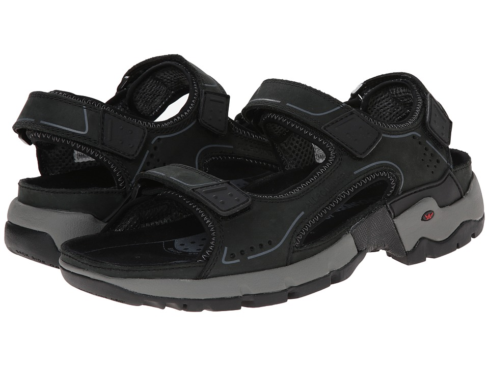 Allrounder by Mephisto Adiago Black Oiled Nubuck Mens Sandals