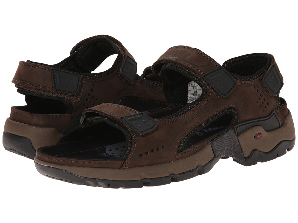 Allrounder by Mephisto Adiago Espresso Oiled Nubuck Mens Sandals