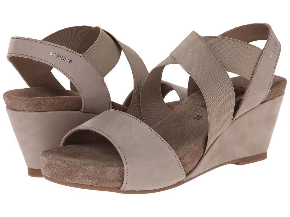 Mephisto Barbara (Warm Grey Bucksoft) Sandals
