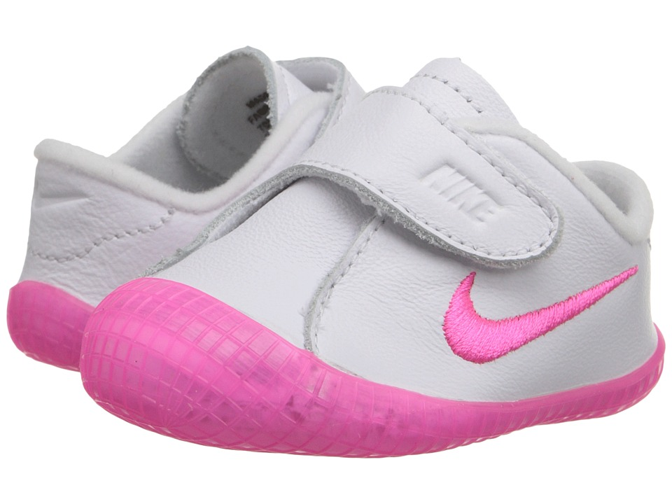 Nike Kids Waffle 1 (Infant/Toddler) (White/Pink Pow) Girls Shoes