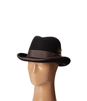 Stacy Adams - Homburg Wool Felt Hat w/ Contrast Grograin Band